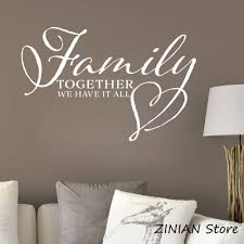 Family Room Decor Sign Picture Wall Decal Living Room Bedroom Hallway Decorate Family Wall Saying Wall Sticker Vinyl Decals Z074 Wall Stickers Aliexpress
