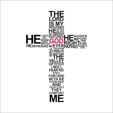 Christian Cross God Quotes Wall Stickers For Living Room Bedroom Home Decoration Jesus Christ Psalm Wallcorners Art Canvas