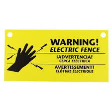 Zareba Systems 3 Pack Electric Fence Warning Signs Lowes Inventory Checker Brickseek
