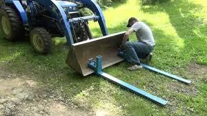 diy loader forks for your tractor you