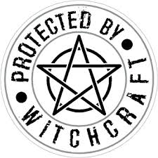 Amazon Com Vinyl Stickers Protected By Witchcraft Wicca Wiccan Witchcraft Pagan Diameter 3 5 Inches Automotive