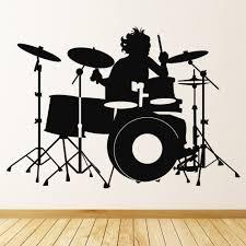 Drum Set Drummer Music Wall Decal Sticker Ws 18278 Ebay
