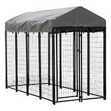 Houseables Dog Kennel Large Dog Crate 8 X 4 X 6 Ft Metal Welded Pet Cage
