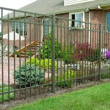 Green Coated Metal Fence Aluminium Gates Gate Design Picket Fence
