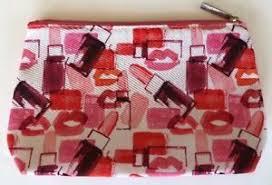 cosmetic makeup bag pink lipstick lips