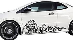 Amazon Com Fgd Grim Reaper Black Universal Car Side Decal Graphics Set 66 5 X 20 5 Car Truck Suv Race Car Trailer Brand Automotive