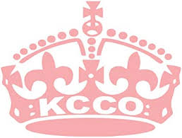 Amazon Com Kcco Small Crown 5 X4 Pink Keep Calm Chive On Die Cut Not Printed For Windows Cars Trucks Laptops Etc Decal Automotive