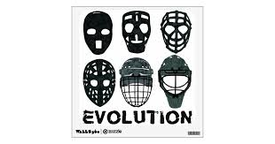 Hockey Goalie Mask Evolution Wall Decal Zazzle Com