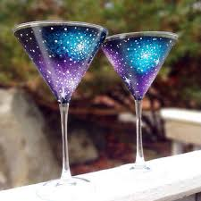 hand painted martini glass on wanelo