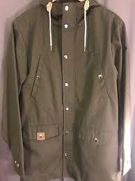 brand new khaki hooded size um mens