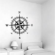 Amazon Com Nautical Compass Removable Vinyl Decal Wall Sticker Mural Kids Room Home Decor Home Kitchen