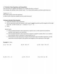 1 7 absolute value equations and