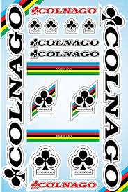 Colnago Bicycle Frame Decals Stickers Graphic Set Vinyl Adesivi Ebay Lifestyle Colnago Decals Stickers Bicycle Frame