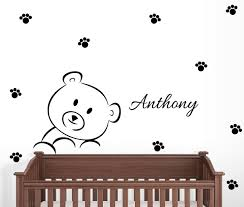 Personalized Teddy Bear Wall Decal Nursery Decor For Sale Online