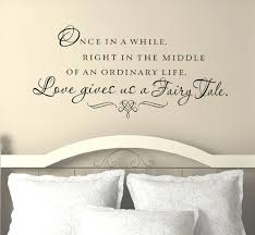 Love Gives Us A Fairy Tale Wall Decal Inspirational Love Quotes