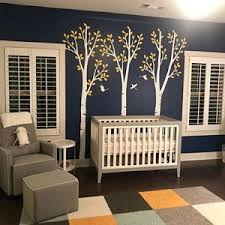 Tree Wall Decals Baby Nursery Birch Tree Decal Sticker Long Etsy Tree Wall Decal Owl Tree Wall Decal Birch Tree Decal