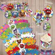 Kit Imprimible Personalizado Candy Cumple Muppet Babies 399 00