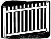 4 Foot X 8 Foot Vinyl Fence Panel Ashton Wide Picket Spacing White
