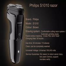 Máy cạo râu 3 lưỡi tự mài thương hiệu Philips S1010 - Hàng chính hãng bảo  hành 2 năm