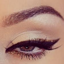 black gold glitter eye makeup for new