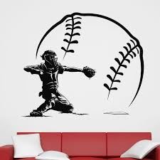 Baseball Sticker Car Decal Sports Posters Home Decoration Vinyl Wall Decals Decor Mural Baseball Wall Decal Sticker Note Stickers Footballsticker Tribal Aliexpress