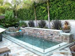 Small Inground Pool Ideas Add A Glass Fence Small Inground Pool Small Outdoor Patios Small Backyard Pools