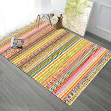 ethnic boho colorful striped irregular