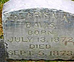 Clarissa Adeline Davis (1872-1873) - Find A Grave Memorial