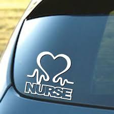 Nurse Heart Vinyl Car Window Decal Cardiac Love Emt Lpn Rn Work Sticker Decor For Sale Online Ebay