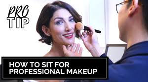 sit for professional makeup artist