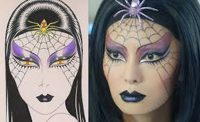 spider woman makeup by kabuki