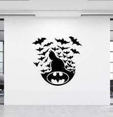 Amazon Com Batman Wall Decal Dark Knight Decal Super Hero Decal Batman Wall Sticker Batman Decal Super Hero Decor Kids Room Decor Decal Home Kitchen