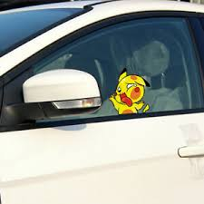 Squashed Pikachu Cute Car Decal Pokemon Cartoon Sticker Waterproof Window Laptop Ebay