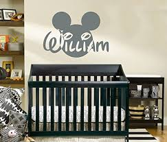Name Wall Decal Mickey Mouse Head Ears Disney Vinyl Decals Sticker Custom Decals Personalized Baby Boy Name Decor Bedroom Nursery Baby Room Decor Zx137 Baby B01672ifr4