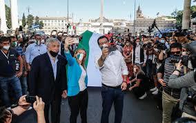 2 giugno, centrodestra in piazza a Roma: ressa e poco ...
