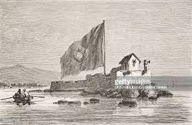 Arrival in Fortalesca, in the port of Victoria, Brazil, drawing by... News  Photo - Getty Images