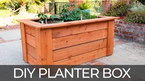 Diy Raised Planter Box W Hidden Wheels Free Plans How To Build Youtube