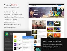 This #Casino / #Gambling WordPress Theme... - VegasHero - Casino ...