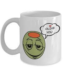 i olive you gifts white ceramic mug is