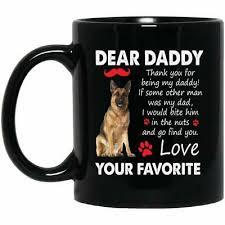 daddy german shepherd coffee mug dog