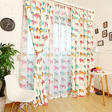 Chic Designed Colorful Horse Nursery Curtains For Kids