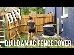 A C Privacy Fence Building An Air Conditioning Unit Cover Youtube