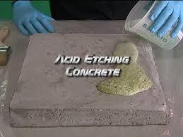 acid etching concrete you