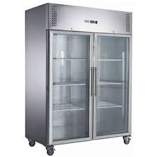 glass door upright fridge xurc1410g2v