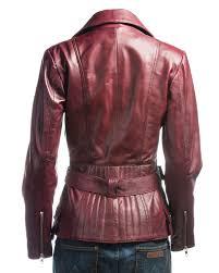 women burdy biker leather jacket