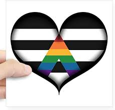 Amazon Com Cafepress Lgbt Ally Heart Sticker Square Bumper Sticker Car Decal 3 X3 Small Or 5 X5 Large Home Kitchen