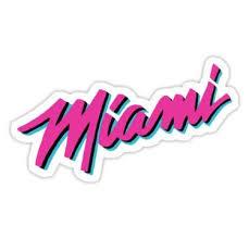 Miami Heat Vice Sticker In 2020 Miami Heat Miami Heat Logo Miami