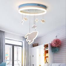 Cartoon Creative Planet Lamp Kids Boy Bedroom Children S Room Lamp Modern Ceiling Lights Led Eye Protection Rocket Light Lb12304 Buy At The Price Of 229 28 In Aliexpress Com Imall Com