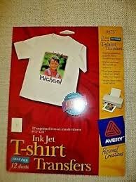 Lot Avery Ink Jet T Shirt Transfer Paper Xerox Window Decal Sheets Ebay