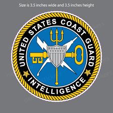 Uscg Coast Guard Intelligence Semper Paratus Military Bumper Sticker Window Decal